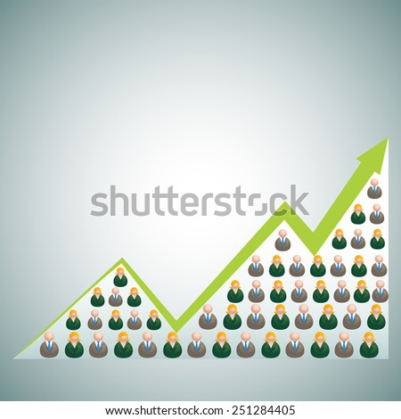 An image of a growing business. - stock vector