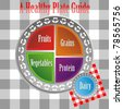 An image of a health plate guide. - stock photo