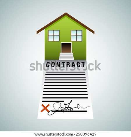 An image of a housing contract. - stock vector