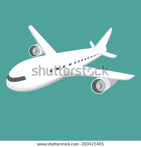 An image of a large airplane. - stock vector
