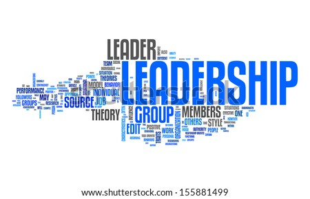 An image of a nice leadership text cloud - stock vector