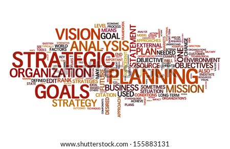 An image of a nice strategy text cloud - stock vector