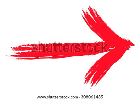 An image of a red grunge arrow