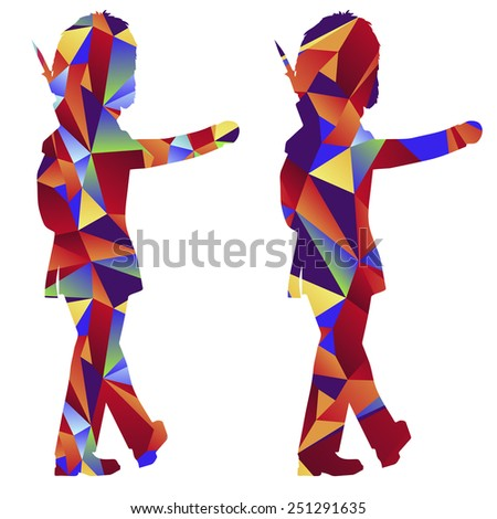 An image of a royal guard - polygon style. - stock vector