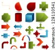 An image of a set of chart shapes. - stock photo