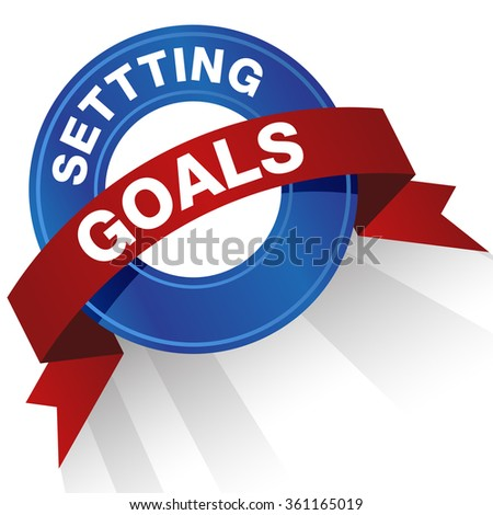 An image of a setting goals badge.