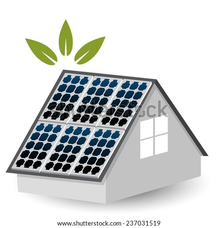 An image of a solar panels icon. - stock vector