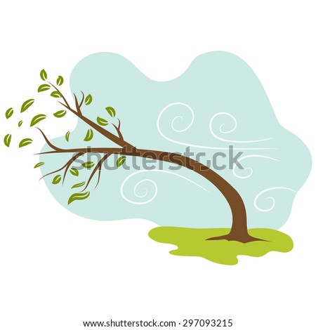 An image of a windy day background. - stock vector