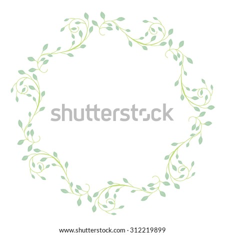 An image of an abstract vine background pattern. - stock vector