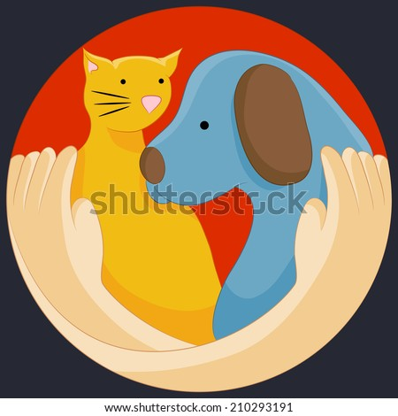 An image of an animal rights protection symbol. - stock vector