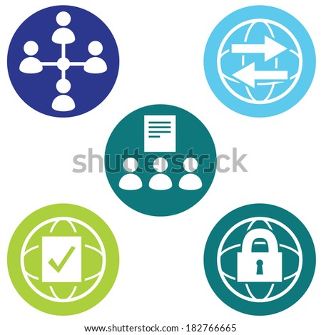 An image of policy icons. - stock vector