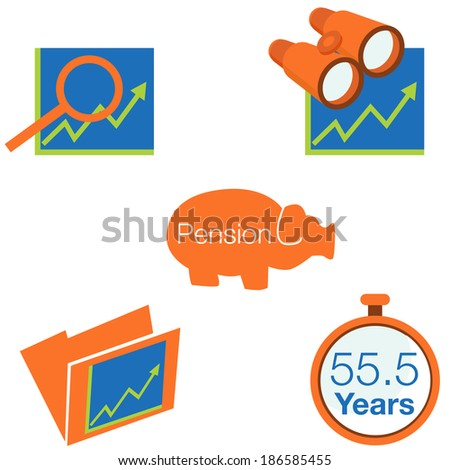 An image of stock investment icons. - stock vector