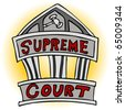 An image of the supreme court building. - stock vector