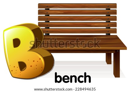 An image showing a letter B for bench on a white background  - stock vector