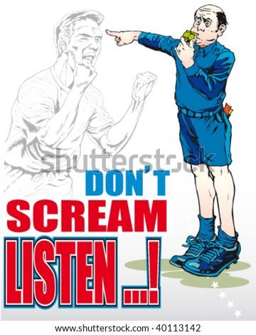an infantile sport judge's illustration - stock vector