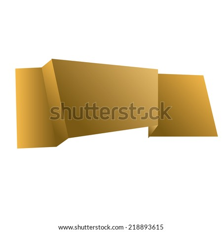 an isolated golden ribbon on a white background