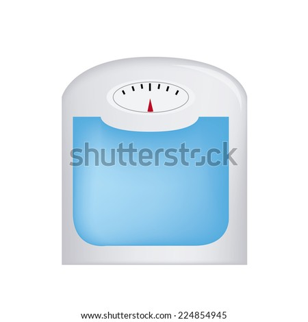 an isolated weight watcher on a white background