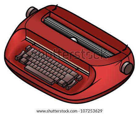 An old electric/electronic typewriter. - stock vector