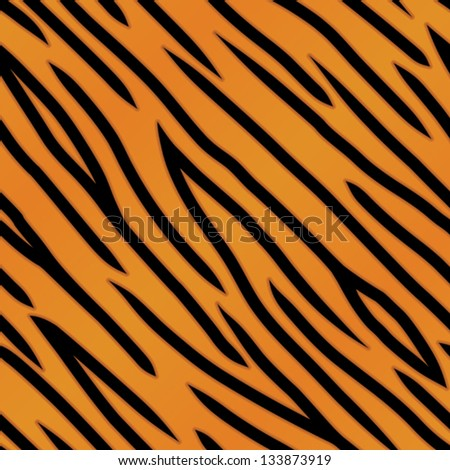 An orange and black tiger striped background. Seamlessly repeatable. Eps 8 Vector. - stock vector