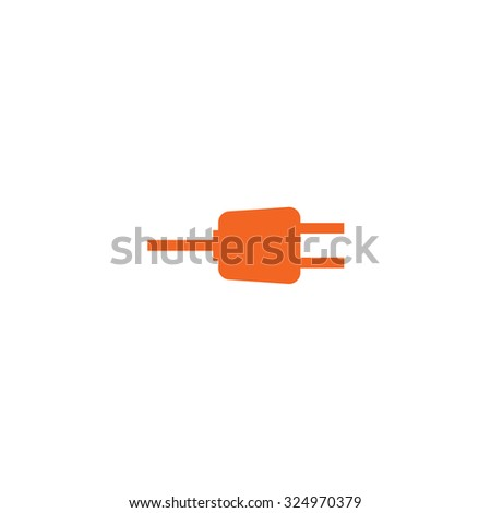 An Orange Icon Isolated on a White Background - Plug