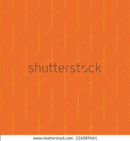 An orange seamless pattern background with a cubic style - stock vector