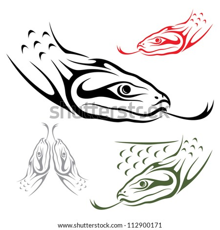 Anaconda snake - vector illustration - stock vector