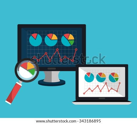 Analitycs search and SEO graphic icons, vector illustration design