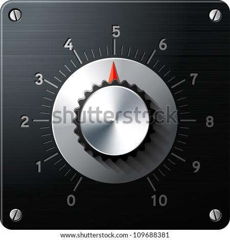 Analog regulator control interface, vector - stock vector