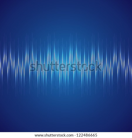 Analog signal, a music track - stock vector