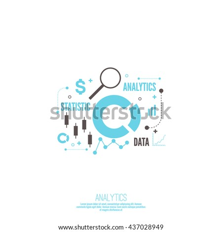 Analysis and Financial Management Report and Forecast. Stock market indicators and statistics data. - stock vector