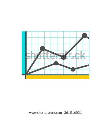 Analysis concept in flat style. Price movement. Stock exchange rates on monitors. Profit graph for diagram. Electronic stock numbers. Profit gain. Business stock exchange. Live online screen - stock vector
