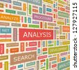 ANALYSIS. Word collage. Vector illustration. - stock photo