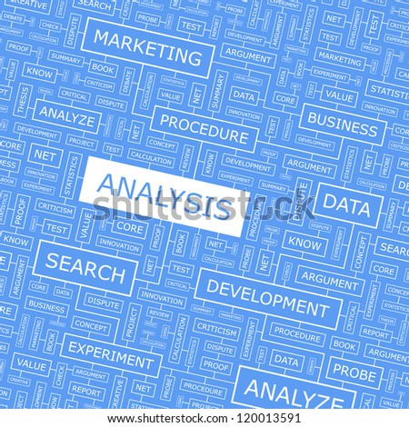 ANALYSIS. Word collage. Vector illustration. - stock vector