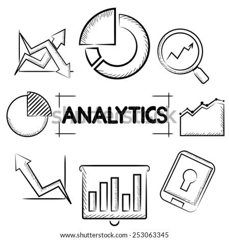 analytics concept - stock vector