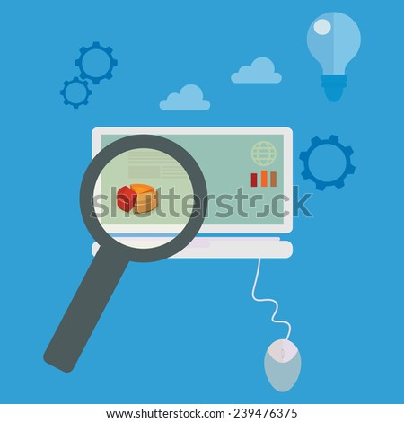 Analyzing data vector illustration. - stock vector