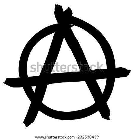 Anarchy symbol isolated on white background, vector illustration - stock vector