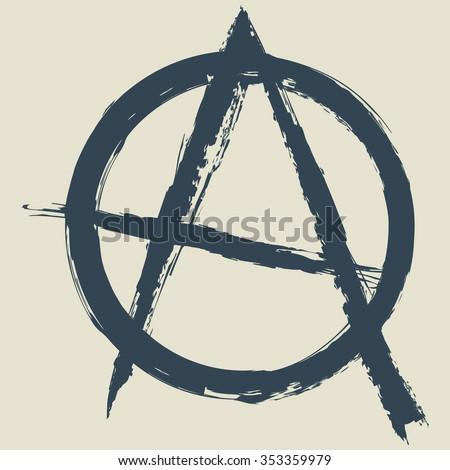 anarchy symbol.vector illustration. - stock vector