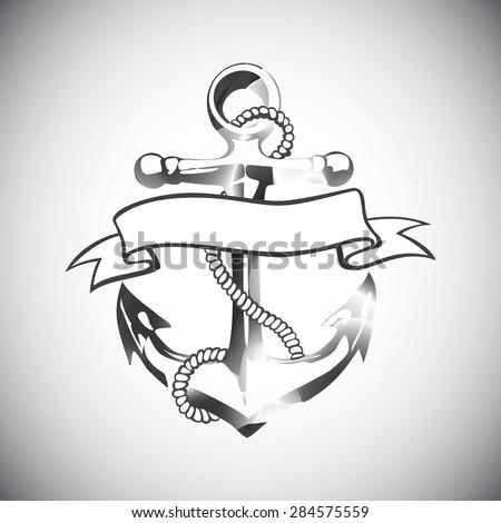 Floral Anchor Tattoos Anchor Icon Vector Tattoo Logo