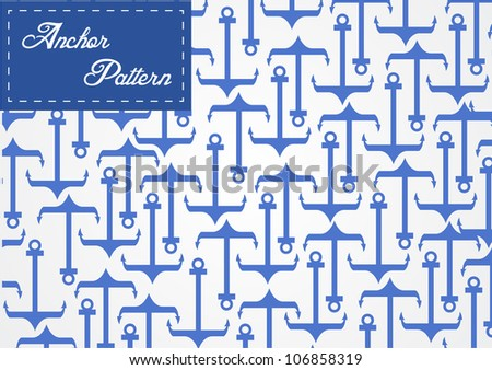 Anchor pattern vector - stock vector