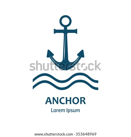 Anchor vector logo icon.  Anchor company logotype. Sea anchor logo. Nautical Anchor vector isolated. Anchor shape. Anchor symbols.