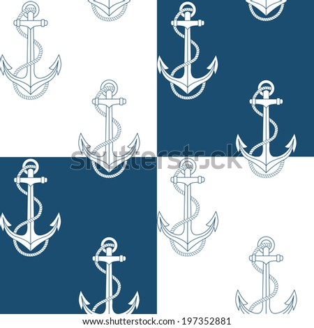 Anchor vector seamless pattern