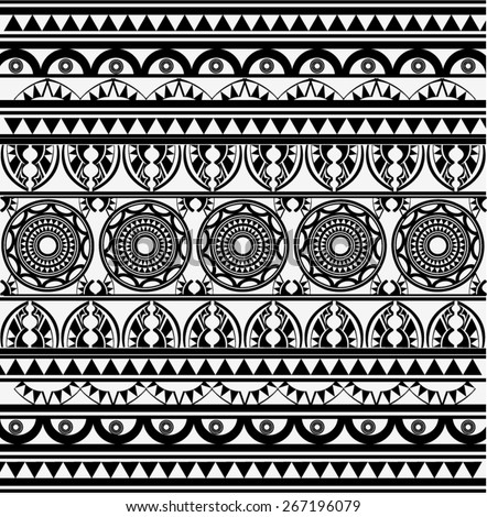 Ancient African Pattern - stock vector