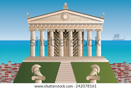 ancient Athens - stock vector