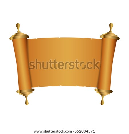 Ancient Chinese scroll illustration with place for your text. Old parchment paper. Vector illustration.