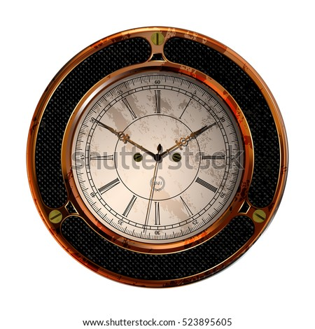 Ancient clock vector