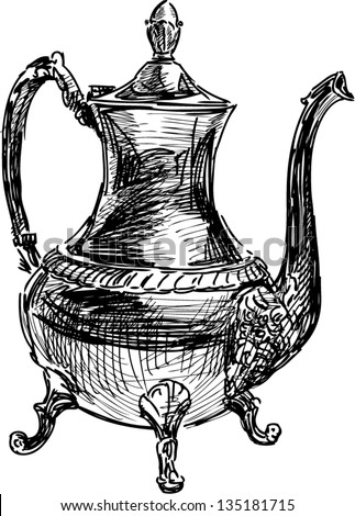 ancient coffee pot
