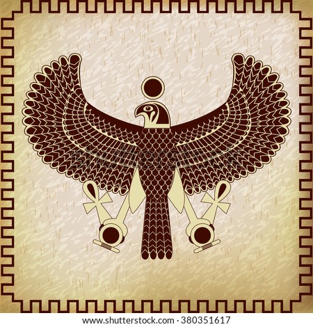 Ancient Egyptian Symbol Horus Falcon God Stock Vector Hd Royalty