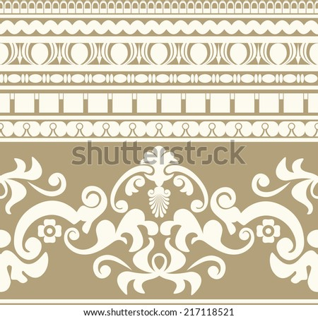 Ancient Greece ornament seamless pattern. Vector design - stock vector
