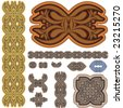 Ancient historical design set - stock