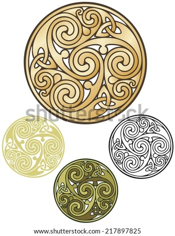 Ancient pagan design modernized - stock vector